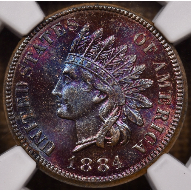 1884 Indian Cent NGC MS63 BN