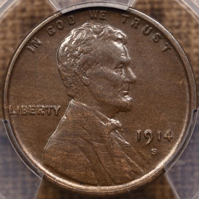 1914-S Lincoln Cent PCGS AU55