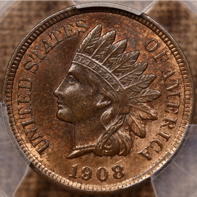 1908 Indian Cent PCGS MS64 RB