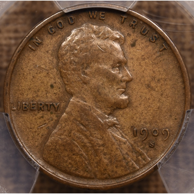 1909-S VDB Lincoln Cent PCGS XF40 CAC, with ANACS Cert...Oldest One We've Seen!
