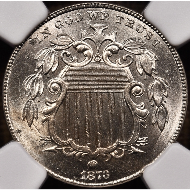 1873 Closed 3 Shield NGC MS64 CAC