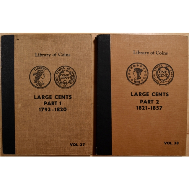 Library of Coins Volumes 37 and 38, Large Cents (1793-1857) Parts 1 and 2 complete
