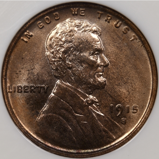 1915-S Lincoln Cent NGC MS64 RB CAC