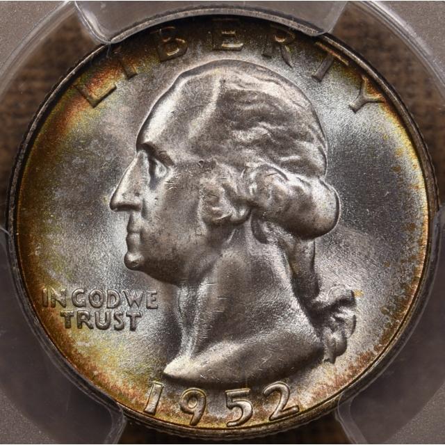 1952-S Washington Quarter PCGS MS67, fabulous Mint Set toning