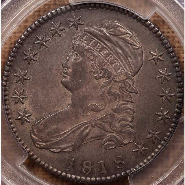 1818 O.106' Capped Bust Half Dollar PCGS AU55