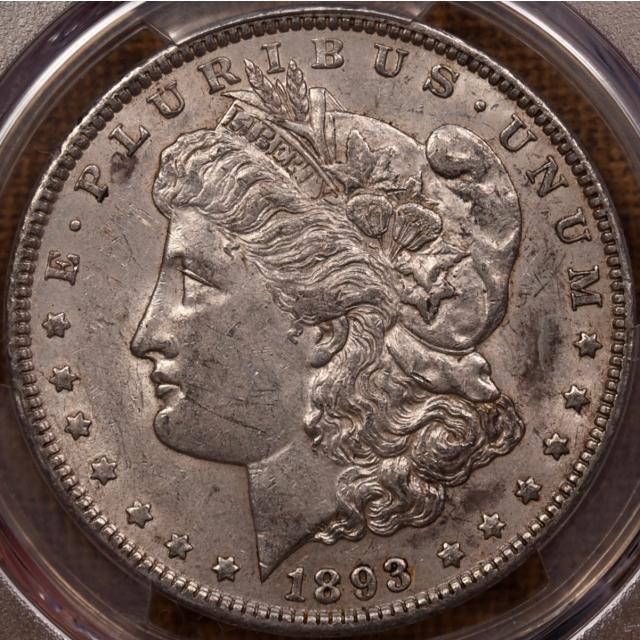 1893 Morgan Dollar PCGS AU55 CAC, NE Hoard