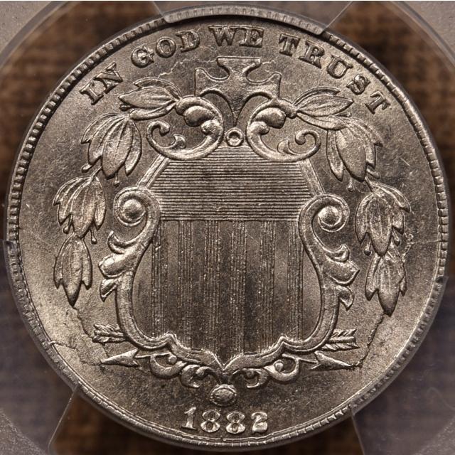 1882 Shield Nickel PCGS MS62, I grade 63