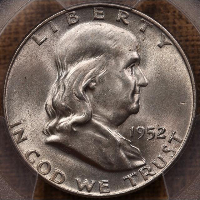 1952-D Franklin Half Dollar PCGS MS64 FBL