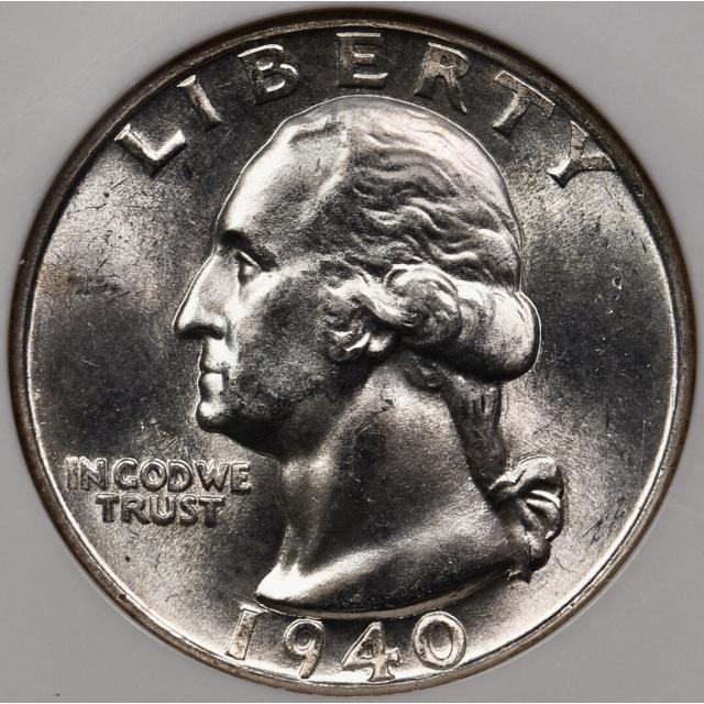 1940-D Washington Quarter NGC MS65
