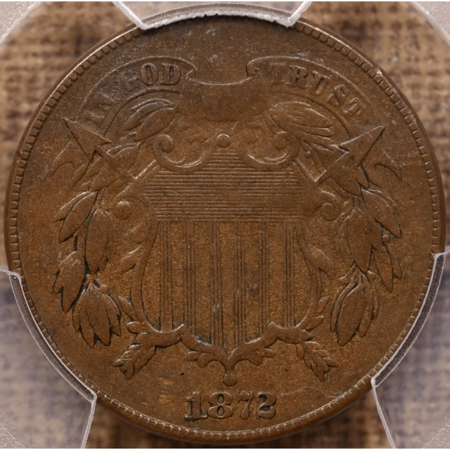 1872 Two Cent Piece PCGS VF25