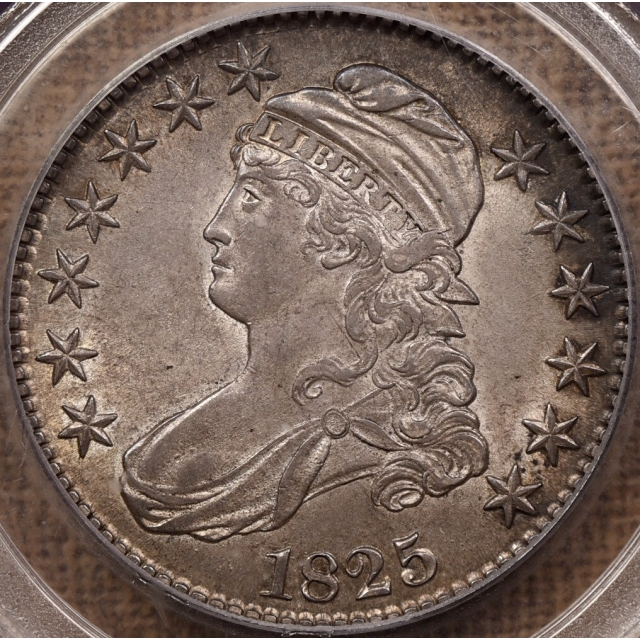 1825 O.101 Capped Bust Half Dollar PCGS AU58, ex. Prouty / Graham