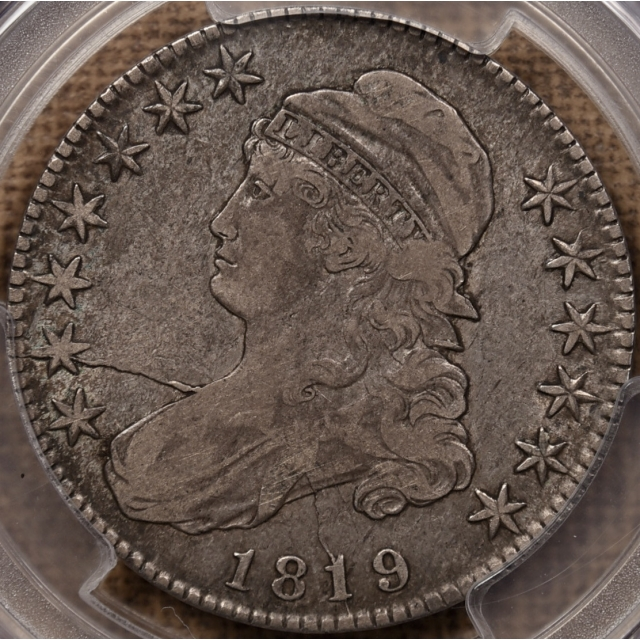 1819 O.107(b) R7? Capped Bust Half Dollar PCGS VF25 CAC