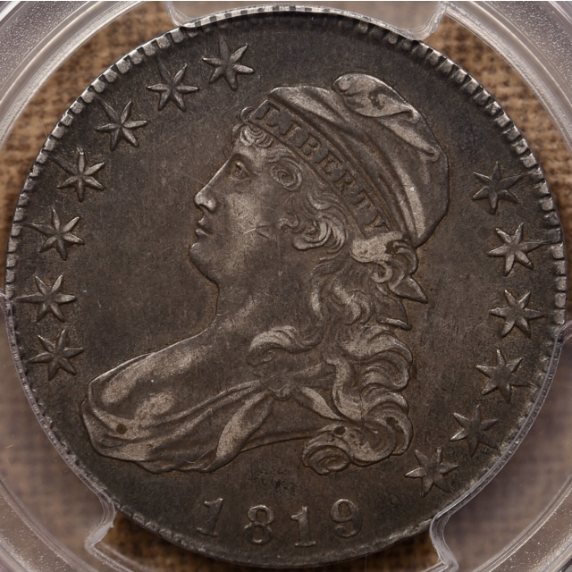 1819 O.111 Capped Bust Half Dollar PCGS XF45 CAC