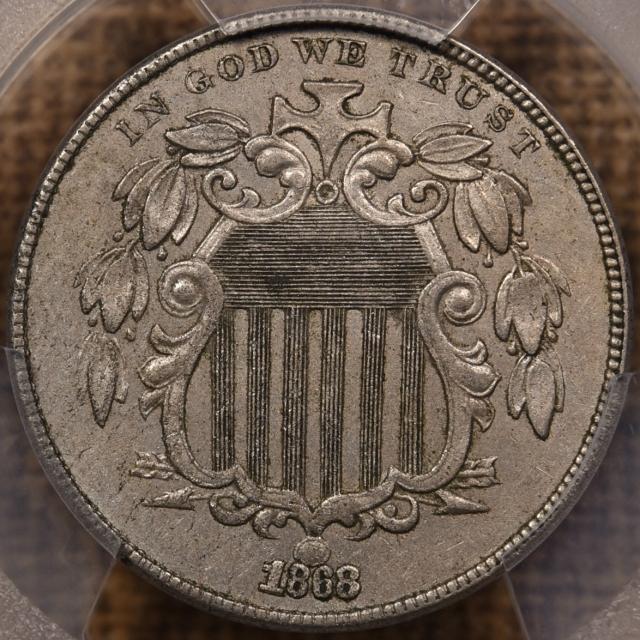 1868 Shield Nickel PCGS AU53