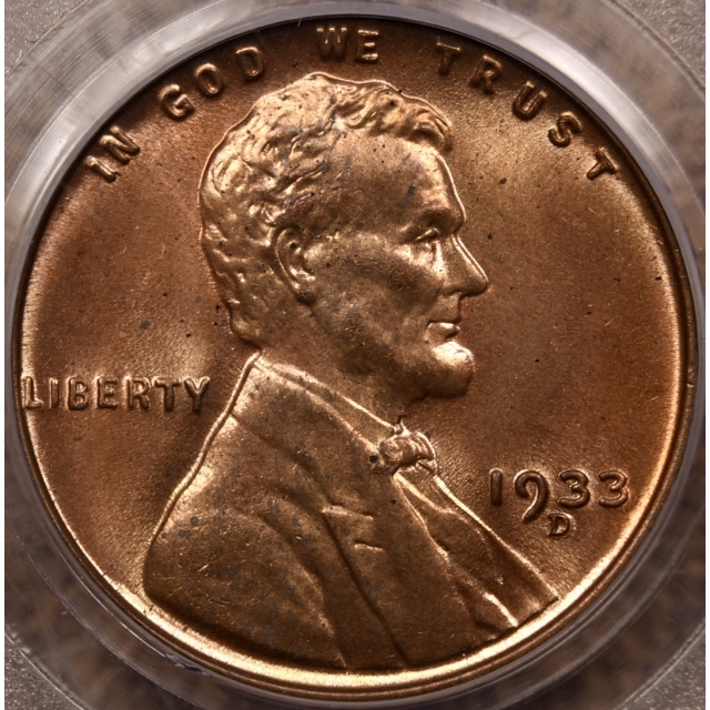 1933-D Lincoln Cent PCGS MS64 RD