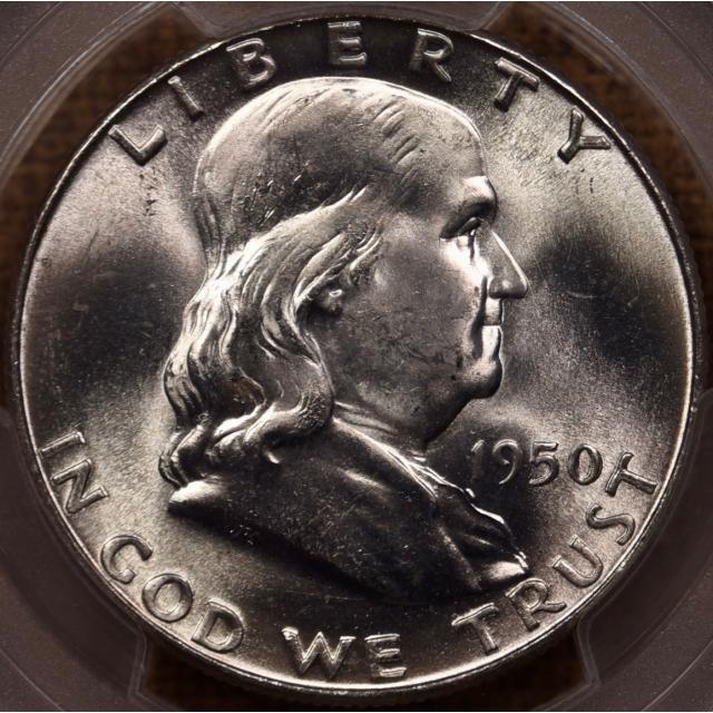 1950 Franklin Half Dollar PCGS MS65 FBL