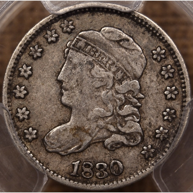 1830 LM-8 Capped Bust Half Dime PCGS VF30 CAC