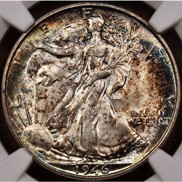 1946-S Walking Liberty Half Dollar NGC MS66, Album toning