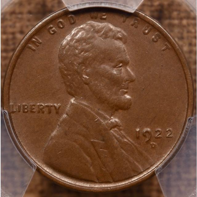 1922-D Lincoln Cent PCGS AU58