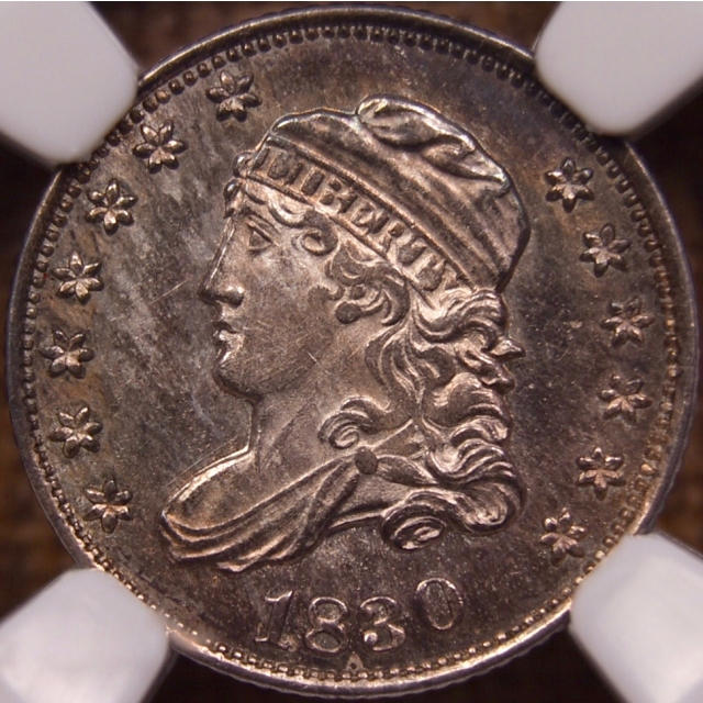 1830 LM.1.1 R6 Capped Bust Half Dime NGC MS65 PL CAC