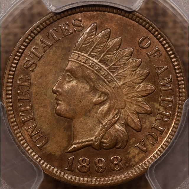 1898 Indian Cent PCGS MS64 RB