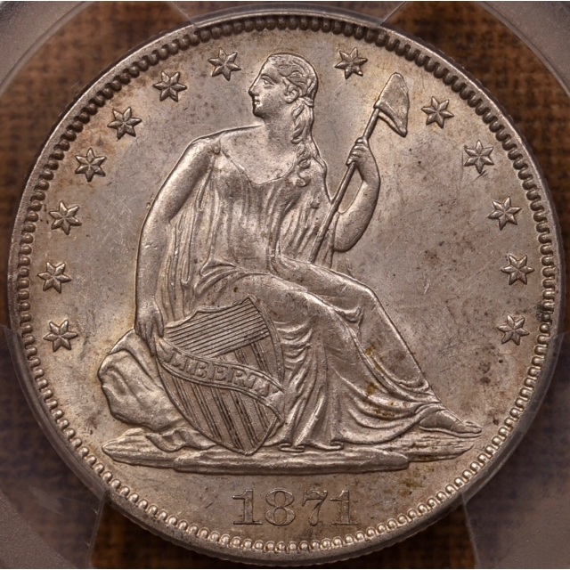1871 WB-101 Liberty Seated Half Dollar PCGS MS62