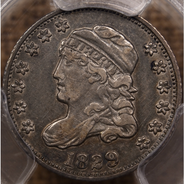 1829 LM-7.1 R4 Capped Bust Half Dime PCGS XF40