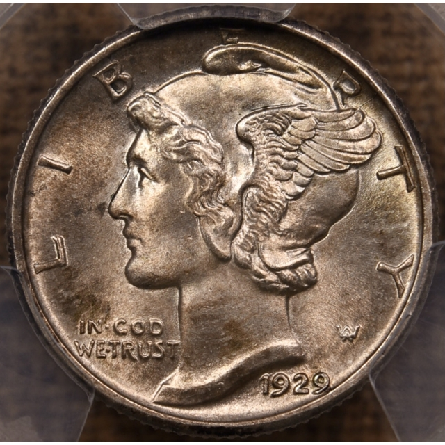 1929 Mercury Dime PCGS MS65 FB