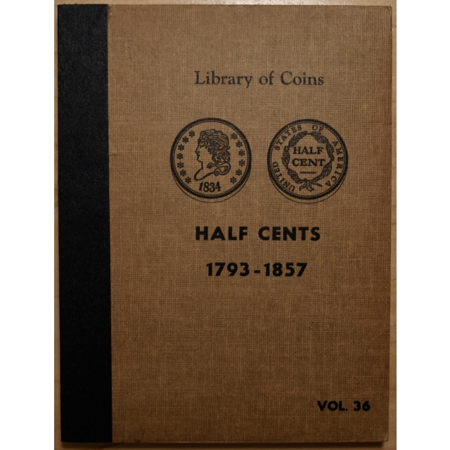 Library of Coins Volume 36, Half Cents (1793-1857)