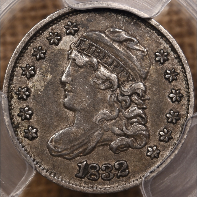 1832 LM-3 Capped Bust Half Dime PCGS XF45