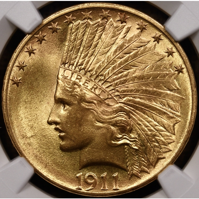 1911 Indian $10 Gold Eagle NGC MS64+ CAC