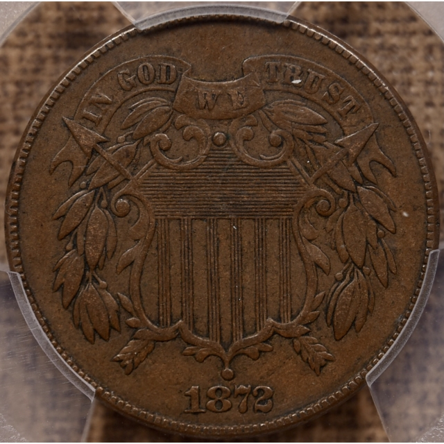 1872 Two Cent Piece PCGS VF35 CAC