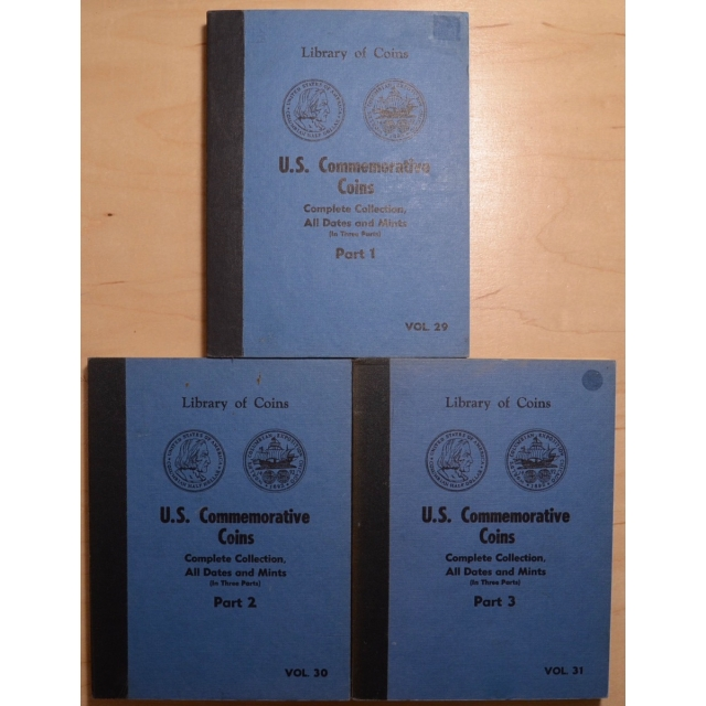 Library of Coins Volumes 29, 30 and 31, U.S. Commemorative Coins, Part 1, 2 and 3 (Complete Collection, All Dates and Mints)