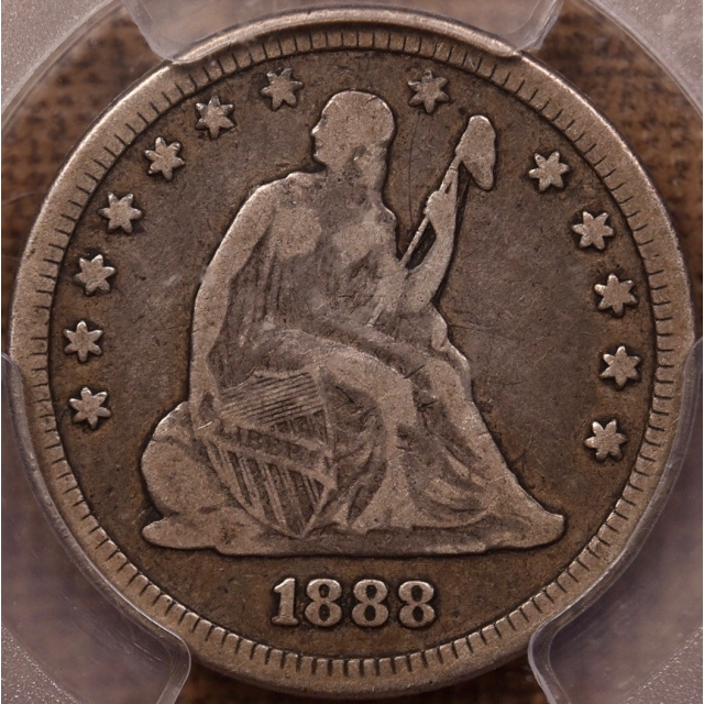 1888 Liberty Seated Quarter PCGS F12 CAC