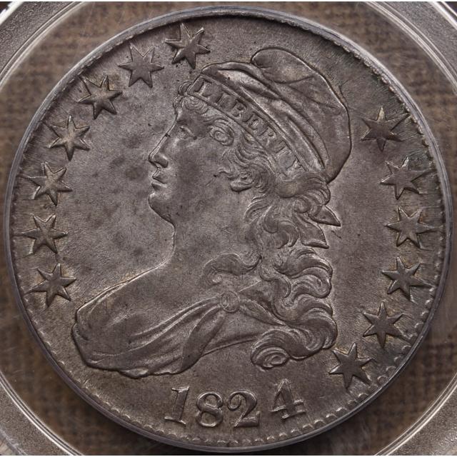 1824/4 O.110a Capped Bust Half Dollar PCGS AU53 CAC