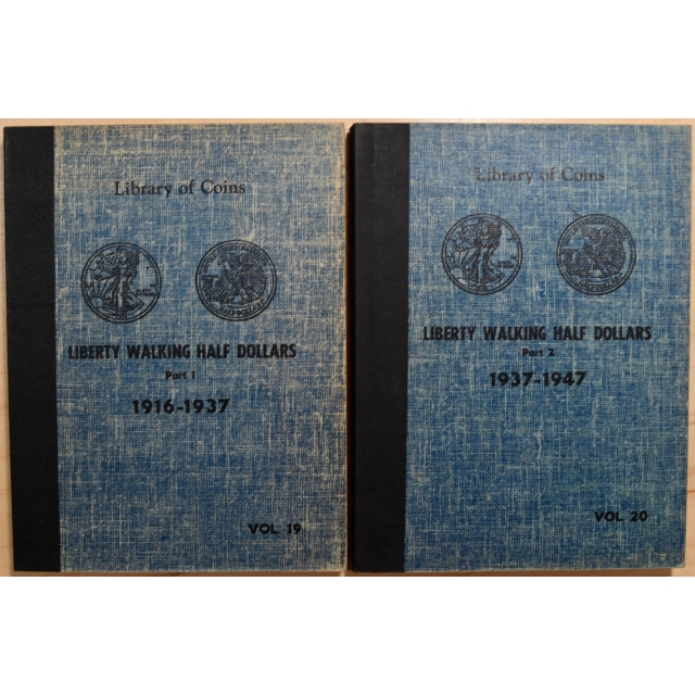 Library of Coins Volumes 19 and 20, Liberty Walking Half Dollars (1916-1947) Parts 1 and 2 complete