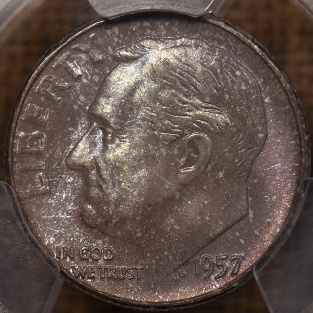 "1957 Roosevelt Dime PCGS MS65, from the ""Mint Set Deal"""