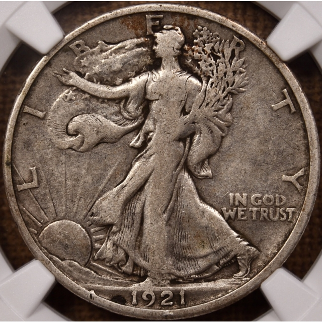 1921-D Walking Liberty Half Dollar NGC VF25 CAC