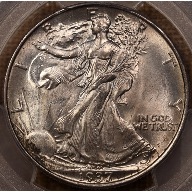 1937 Walking Liberty Half Dollar PCGS MS65 with 1986 ANACS Cert