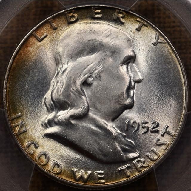 1952 Franklin Half Dollar PCGS MS66 FBL