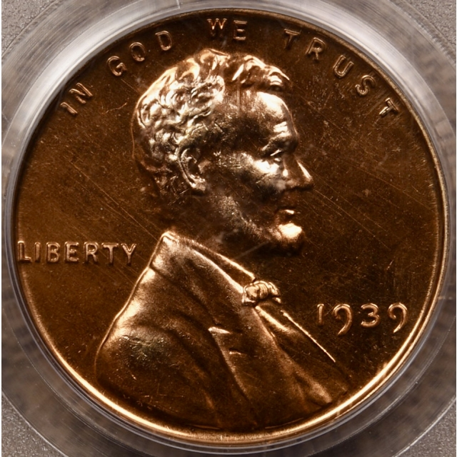 1939 Proof Lincoln Cent PCGS PR65 RD Series Holder