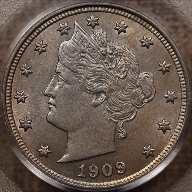 1909 Liberty Nickel PCGS AU58