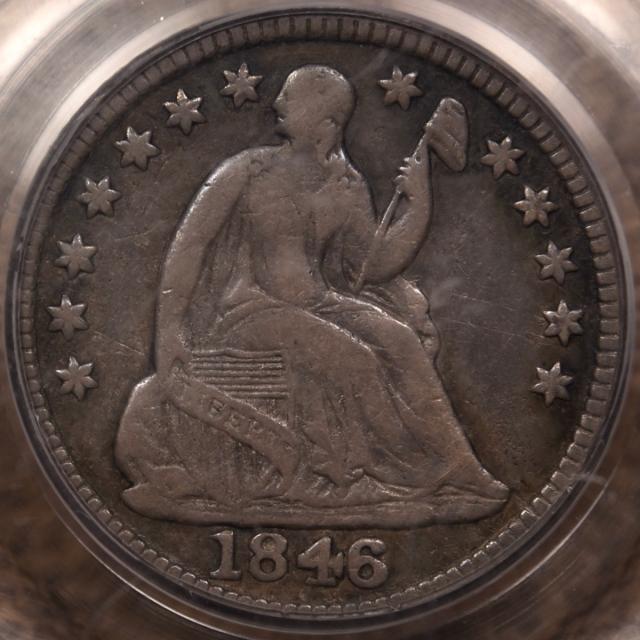 1846 Liberty Seated Half Dime PCGS F15 OGH CAC