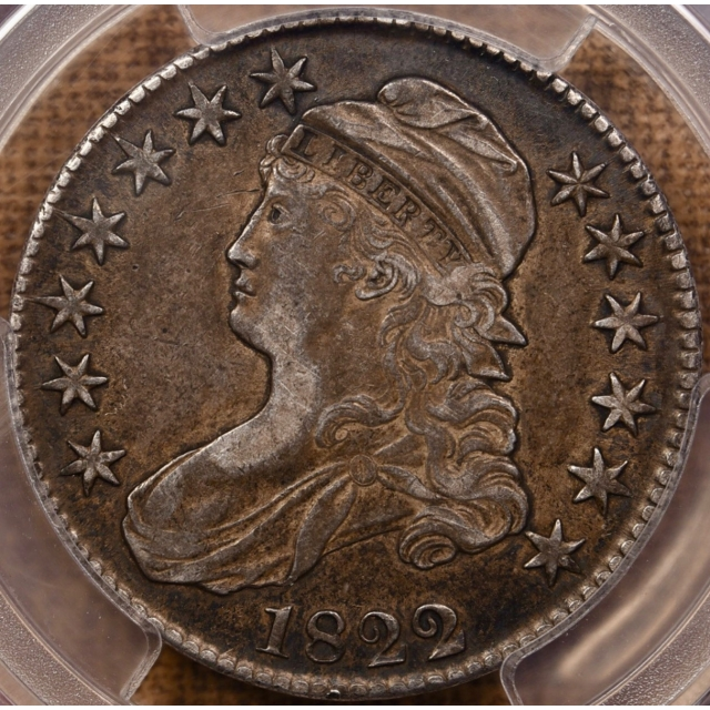 1822/1 O.101 Capped Bust Half Dollar PCGS XF45 CAC
