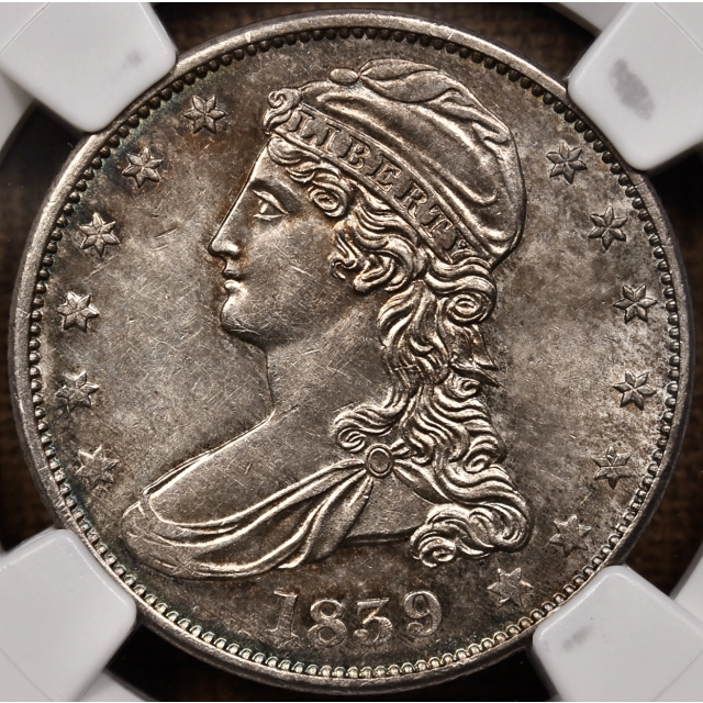 1839 GR-8a EDS Capped Bust Half Dollar NGC MS61, From the Dick Graham Reference Collection