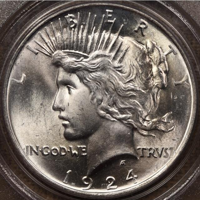 1924 Peace Dollar PCGS MS65 OGH