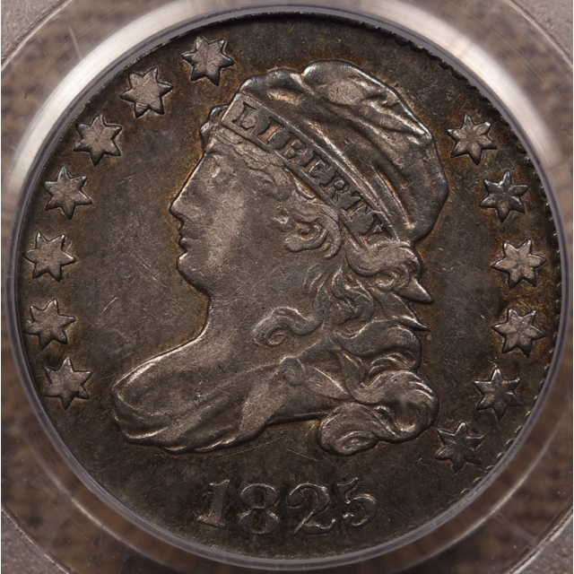 1825 JR-2 Capped Bust Dime PCGS XF40 CAC