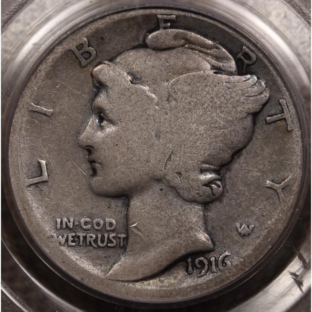 1916-D Mercury Dime PCGS G4 CAC