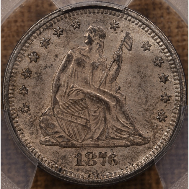 1876-S Liberty Seated Quarter PCGS MS62 CAC
