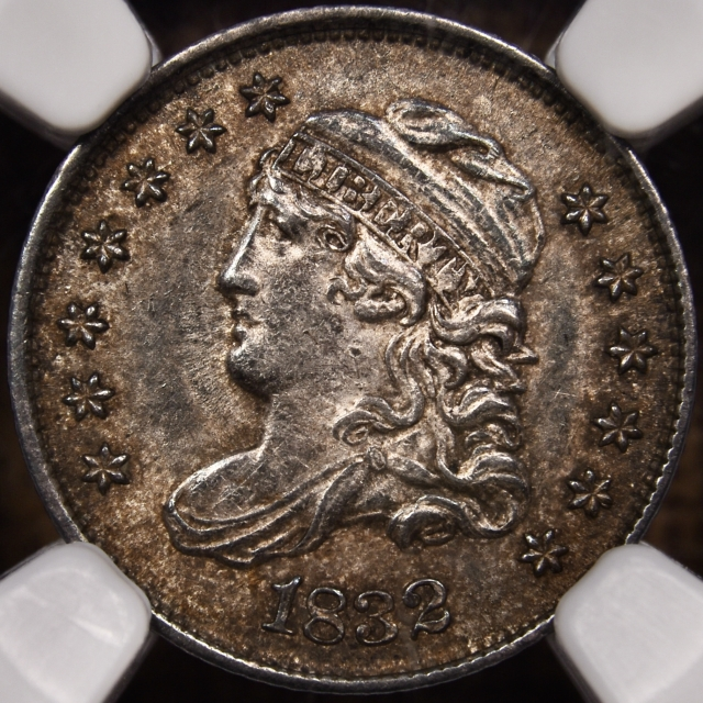 1832 LM-3 Capped Bust Half Dime NGC MS61 CAC